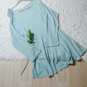 NWT Free People Mint Green Cold Shoulder Dress